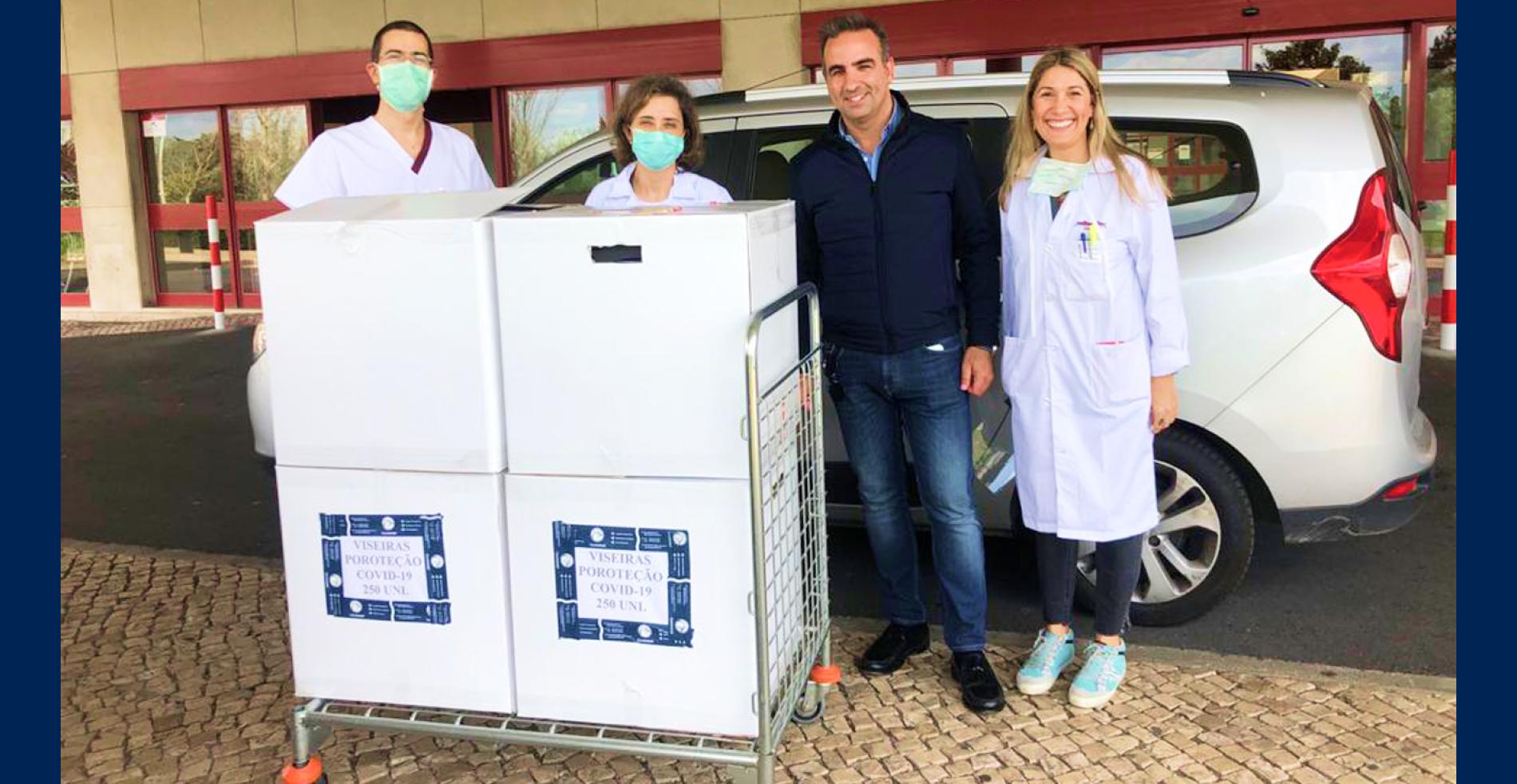 Doação de Viseiras para os Hospitais Portugueses